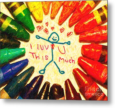 I Luv U This Much Metal Print by Wingsdomain Art and Photography