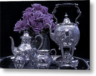 I Polished My Silver For You Metal Print by Sandra Foster