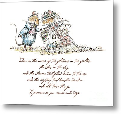 I Pronounce You Mouse And Wife Metal Print