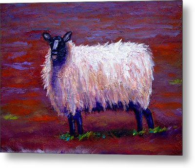 Metal Print featuring the painting I See You by Marie Hamby