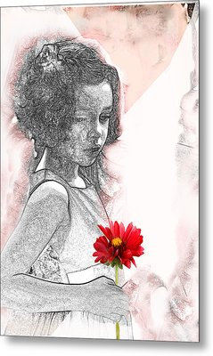 I Thought Of You Metal Print by Barbara  White