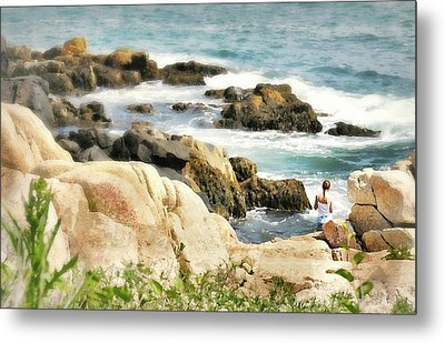 I Heart Waves Metal Print by Diana Angstadt