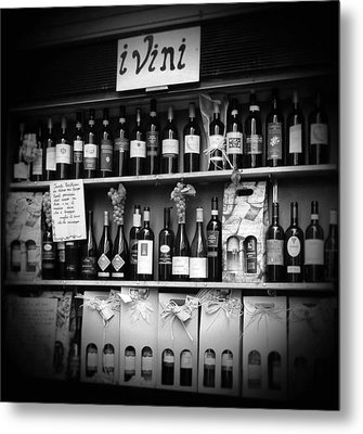 i Vini Black and White Metal Print