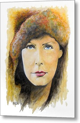 I Want To Be Alone - Garbo Metal Print by William Walts
