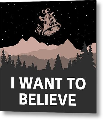 Metal Print featuring the digital art I Want To Believe by Gina Dsgn