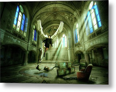 Metal Print featuring the digital art I Want To Brake Free by Nathan Wright