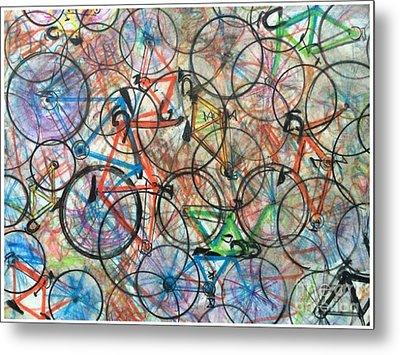 I Want To Ride My Bicycle Bicycle  Metal Print by Scott French