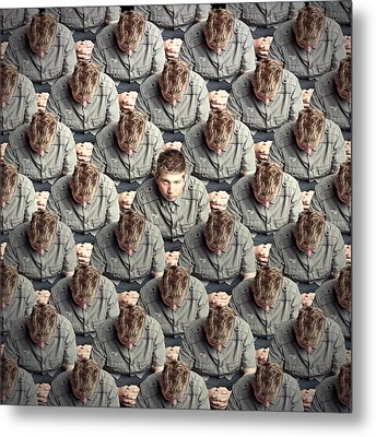 I Will Not Conform! Metal Print by Baden Bowen