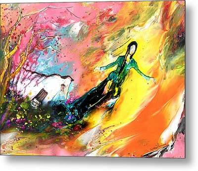 I Wish I Could Fly Very Far Away Metal Print by Miki De Goodaboom