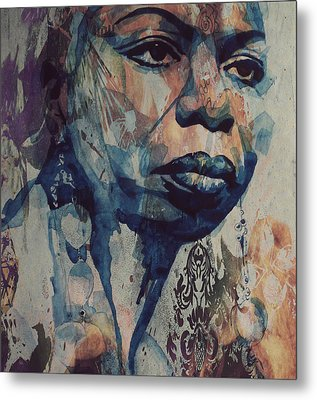 Metal Print featuring the mixed media I Wish I Knew How It Would Be  Feel To Be Free by Paul Lovering