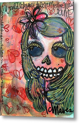 Metal Print featuring the painting I Would Like You To Love Me by Laurie Maves ART
