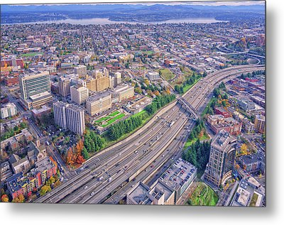 I5 Seattle Aerial View Metal Print