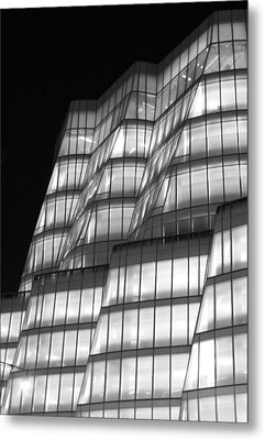 Iac Building Night Time  Metal Print by Christopher Kirby