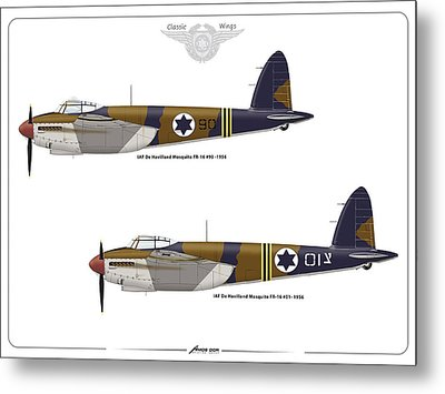 Metal Print featuring the digital art Iaf Mosquito 1 by Amos Dor