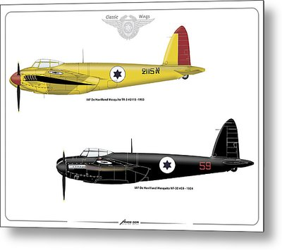 Metal Print featuring the digital art Iaf Mosquito Iv by Amos Dor