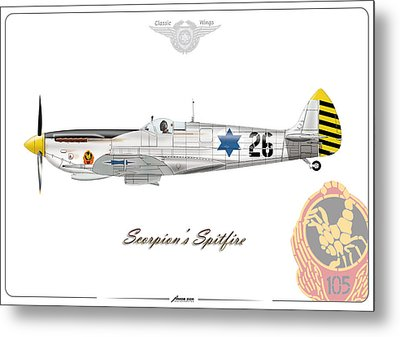 Iaf Scorpions Spit. Metal Print by Amos Dor