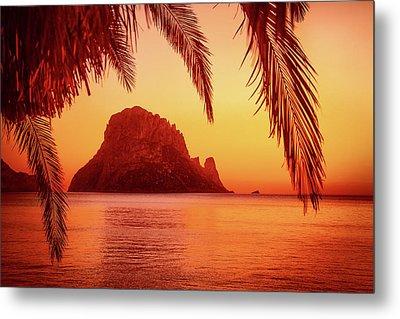 Ibiza Sunset Metal Print by Iryna Goodall