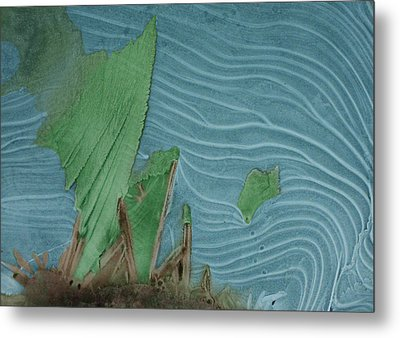 Ice Abstract 11 Metal Print