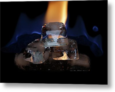 Metal Print featuring the photograph Ice Art No 16 by Rico Besserdich