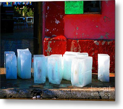 Ice Blocks By Michael Fitzpatrick Metal Print by Mexicolors Art Photography