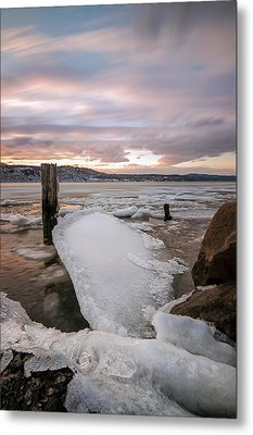 Ice Chips Metal Print