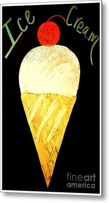 Ice Cream Cone Metal Print by Darla Wood