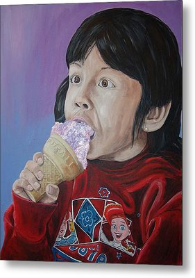 Metal Print featuring the painting Ice Cream by Kevin Callahan