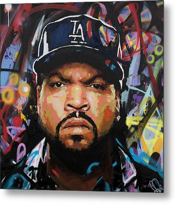 Metal Print featuring the painting Ice Cube by Richard Day