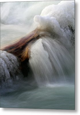 Metal Print featuring the photograph Ice Dam by Timothy McIntyre