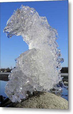 Metal Print featuring the photograph Ice Dragon by Sami Tiainen