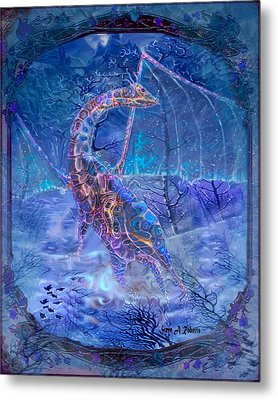 Metal Print featuring the painting Ice Dragon by Steve Roberts