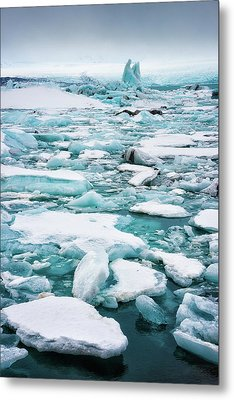 Metal Print featuring the photograph Ice Galore In The Jokulsarlon Glacier Lagoon Iceland by Matthias Hauser