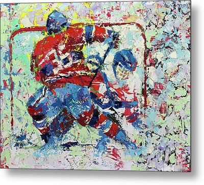 Ice Hockey No1 Metal Print
