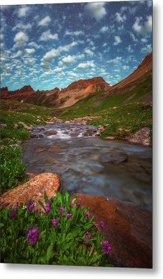 Metal Print featuring the photograph Ice Lake Nights by Darren White