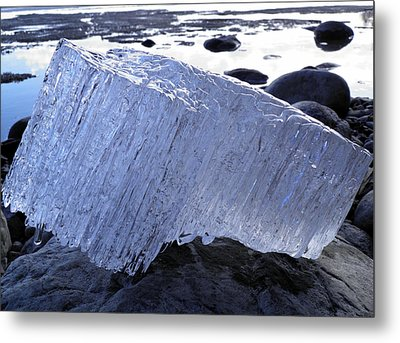 Metal Print featuring the photograph Ice On Rocks 1 by Sami Tiainen