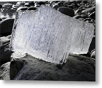 Metal Print featuring the photograph Ice On Rocks 2 by Sami Tiainen