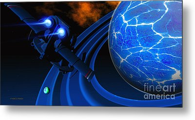 Ice Planet Metal Print by Corey Ford