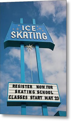 Metal Print featuring the photograph Ice Skating 2 by Matthew Bamberg