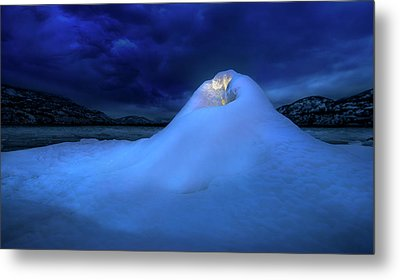 Metal Print featuring the photograph Ice Volcano by John Poon
