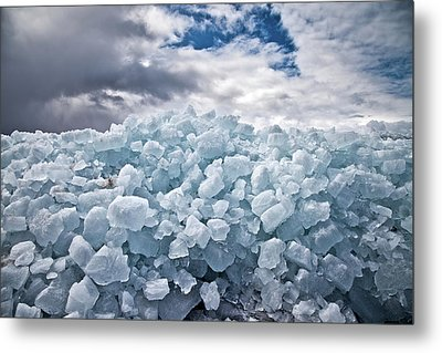 Ice Wall Metal Print by Brian Boudreau