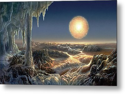 Ice World Metal Print by Don Dixon
