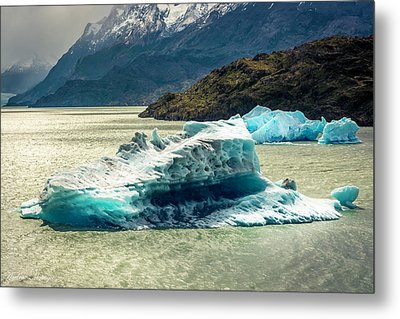 Metal Print featuring the photograph Iceberg by Andrew Matwijec
