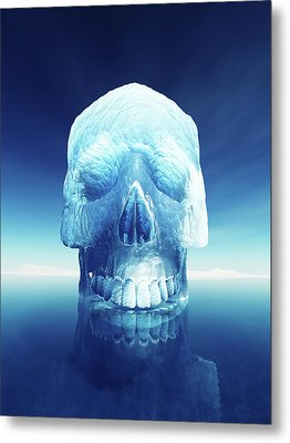 Iceberg Dangers Metal Print