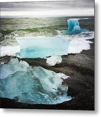 Iceberg Pieces Jokulsarlon Iceland Metal Print