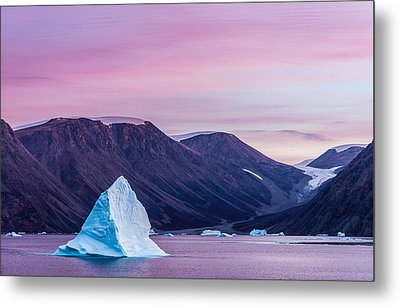 Iceberg Sunset - Greenland Photograph Metal Print