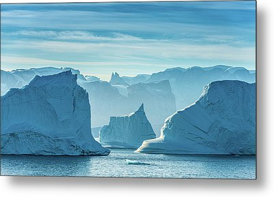 Iceberg View - Greenland Travel Photograph Metal Print by Duane Miller