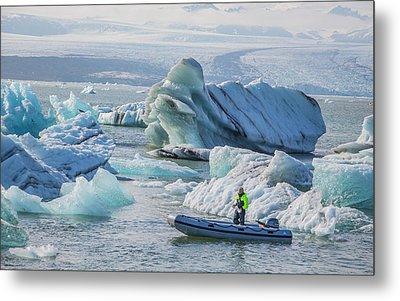 Icebergs On Jokulsarlon Lagoon In Iceland Metal Print