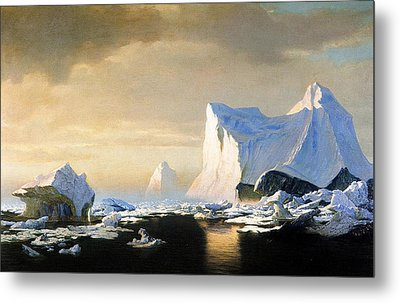 Icebergs Metal Print by William Bradford