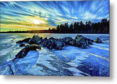 Icebound 5 Metal Print by ABeautifulSky Photography