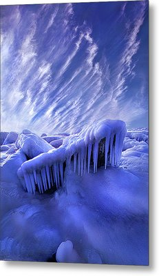 Metal Print featuring the photograph Iced Blue by Phil Koch